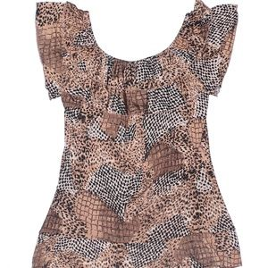 NWT Essentials by Milano Short Sleeve Blouse